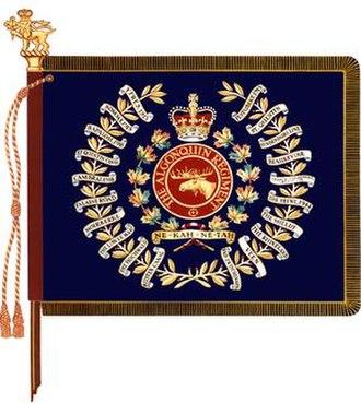 The Algonquin Regiment - The regimental colour of The Algonquin Regiment.