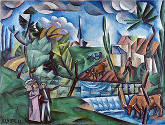 André Lhote - Image: André Lhote, 1912, Paysage français, oil on canvas, 89 x 116 cm, Musée des Beaux Arts de Bordeaux