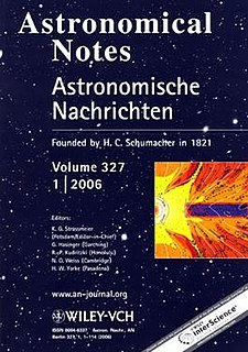 <i>Astronomische Nachrichten</i> journal