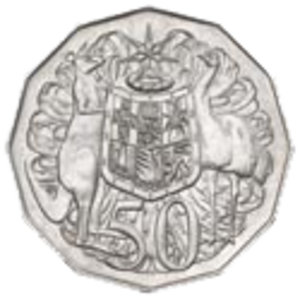 Australian fifty-cent coin