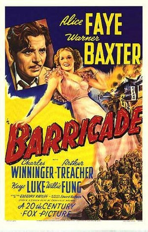 Barricade (1939 film) - Theatrical release poster