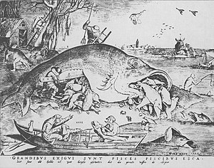 Fishing industry in Scotland - A medieval view of fishing, by Peter Brueghel the Elder (1556).