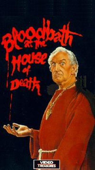 Bloodbath at the House of Death - Vincent Price plays the Sinister Man in the film; VHS box cover