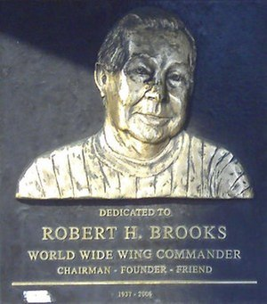 Robert H. Brooks - Plaque of Hooters founder Robert H. Brooks at the Keiner Plaza Hooters in St. Louis, Missouri in 2010.