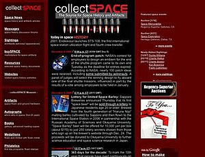 CollectSPACE - Image: CS screenshot