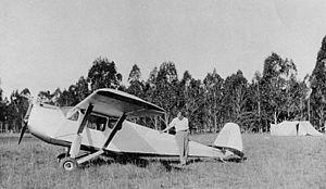 A Very Short War - Cliff Carpenter's homebuilt monoplane Christmas Day 1932