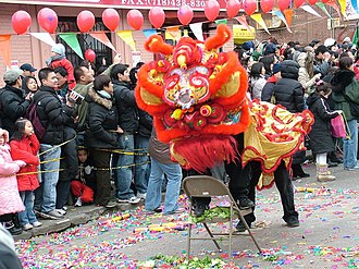 Chinatowns in Brooklyn -  Celebrating Chinese New Year on 8th Avenue.