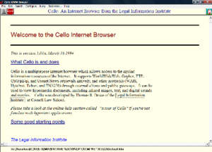 An Internet browser from the Cornell Legal Information Institute.