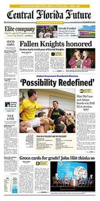 Central Florida Future - Image: Central Florida Future front page