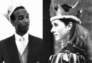 Monarchy Party - King Charles (Chuck Powell- Left) (1991) and Queen Sarah (Sarah Poore -Right) 1992