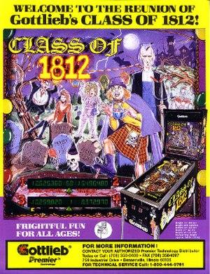 Class of 1812 (pinball) - Image: Classof 1812Pinball Flyer