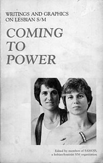 <i>Coming to Power</i> Anthology of lesbian S/M writings edited by SAMOIS