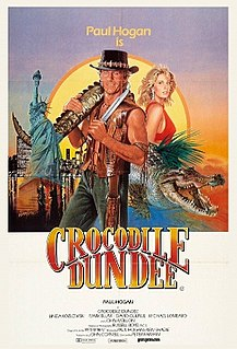 <i>Crocodile Dundee</i> 1986 Australian comedy film