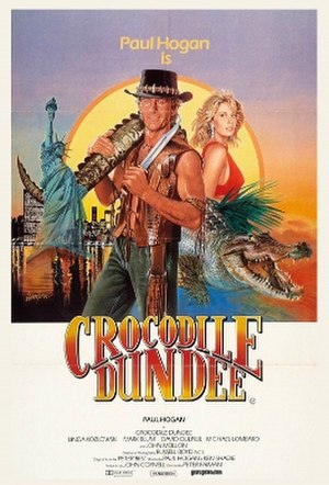 Crocodile Dundee - Australian theatrical release poster, the artwork was also used for non-US posters