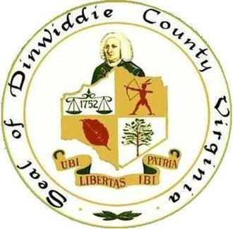Dinwiddie County, Virginia - Image: Dinwiddie Seal