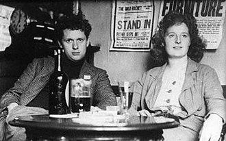 Caitlin Thomas - Caitlin with husband Dylan Thomas, late 1930s