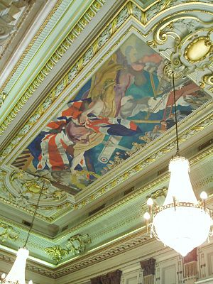 One Great George Street - Great Hall Ceiling Painting at One Great George Street.