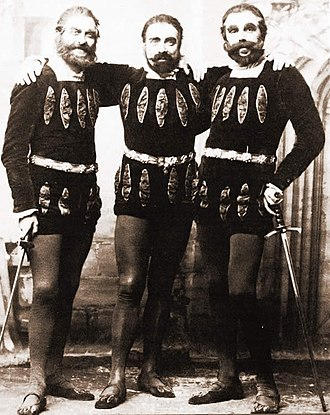 Princess Ida - Guron (Warwick Gray), Arac (Richard Temple) and Scynthius (William Lugg), 1884