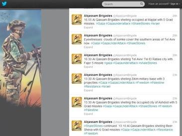 Hamas Al Qassam Brigades Twitter Feed 2012