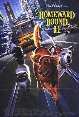 Homeward Bound II: Lost in San Francisco - Theatrical release poster