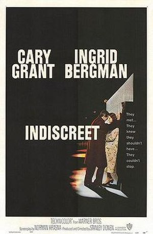Indiscreet (1958 film) - Cinema poster