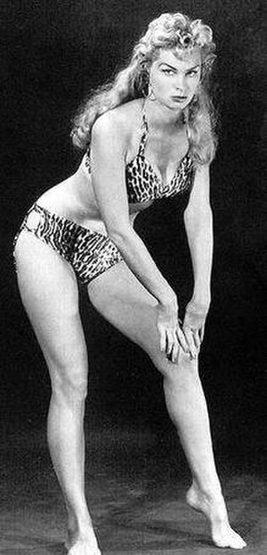 Sheena, Queen of the Jungle - Irish McCalla in 1950s publicity photograph as TV's Sheena.
