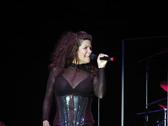 Jeanette Jurado - Jeanette singing at the Exposé reunion concert in 2007