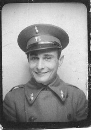 Juan Pujol García - Pujol in the uniform of 7th Light Artillery, 1931