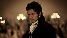 Dominic Cooper as John Willoughby in the 2008 BBC television serial, Sense and Sensibility. This scene occurs at a ballroom in London after he abruptly encounters Marianne