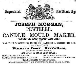 History of candle making - Joseph Morgan's candle making machine revolutionized candle making