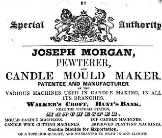 History of candle making - Joseph Morgan's candle making machine revolutionized candle making