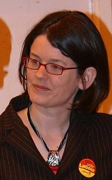 Kitty ussher at election count in burnley 2009.JPG