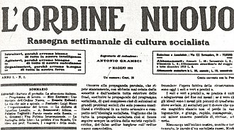 L'Ordine Nuovo - First issue of L'Ordine Nuovo on May 1, 1919