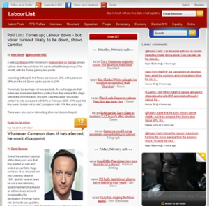 LabourList - The LabourList home page.