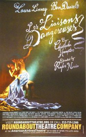 Les Liaisons Dangereuses (Hampton play) - Poster for the 2008 Roundabout Theatre Company production