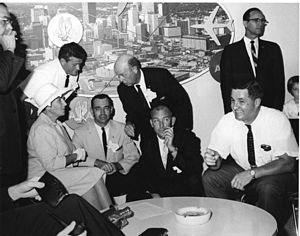 United States Submarine Veterans, Inc. - In the American Airlines Lounge at Dallas Love Field in Texas. Seated are, left to right, Phyllis Lockwood, Joe Negri, Ron Smith, and Charlie Cook.