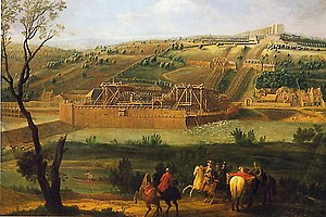 Château de Marly - La machine de Marly by Pierre-Denis Martin, 1723.