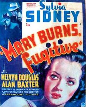 Mary Burns, Fugitive - 1935 Theatrical Poster