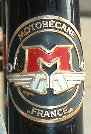 Motobécane - A Motobécane head badge.
