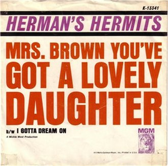 Mrs. Brown, You've Got a Lovely Daughter - Image: Mrs Brown You've Got a Lovely Daughter cover