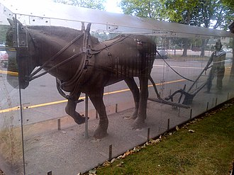 Delta Hospital - Image: Mtn View Manor Horse Statue