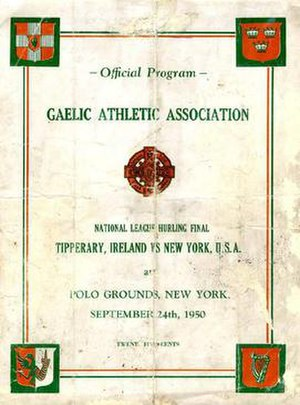 1949–50 National Hurling League - Image: NHL Final 1950 programme