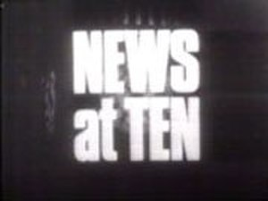 ITV News - A still from an early News at Ten opening sequence from c. 1969.