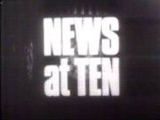 ITV News at Ten - A still from a News at Ten opening sequence from 1969