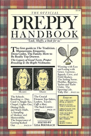 The Official Preppy Handbook - Cover of first edition