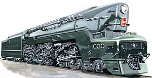 Pennsylvania Railroad 5550 - Artist's rendition of PRR 5550 when finished.