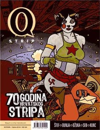 Darko Macan - A cover of the Q strip comics magazine.