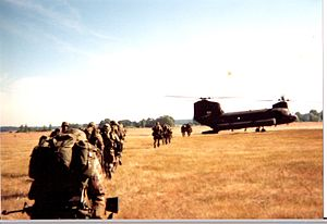 Leader Development and Assessment Course - ROTC cadets board a CH-47 Chinook at Ft. Lewis