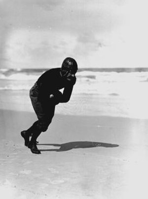 1929 Florida Gators football team - Captain Cawthon on the beach.