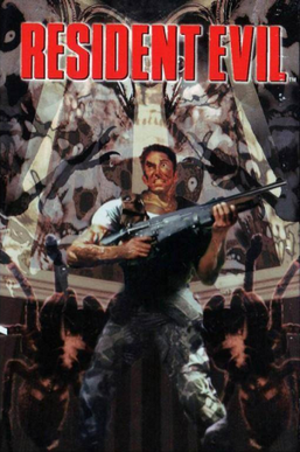 Resident Evil (1996 video game) - Cover art in Western territories by Bill Sienkiewicz